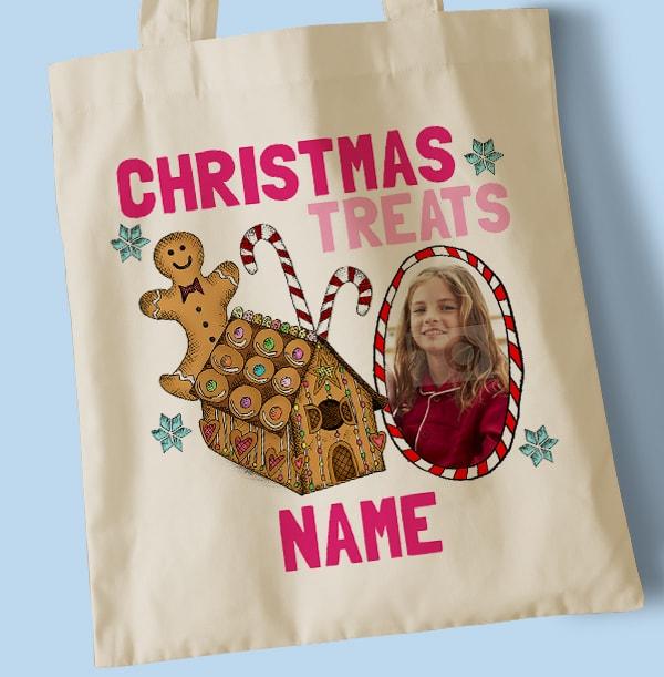 Christmas Treats Personalised Tote Bag