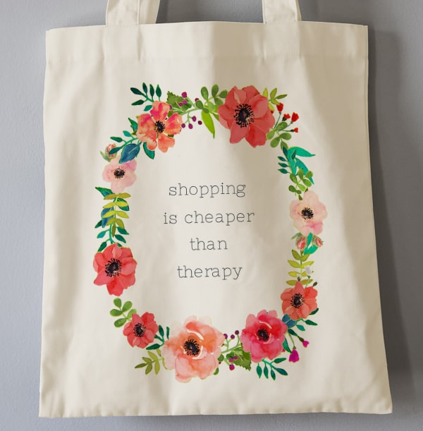 Shopping Cheaper than Therapy Tote Bag