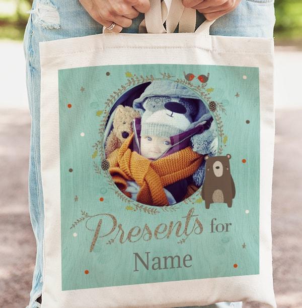 Christmas Presents Personalised Tote Bag