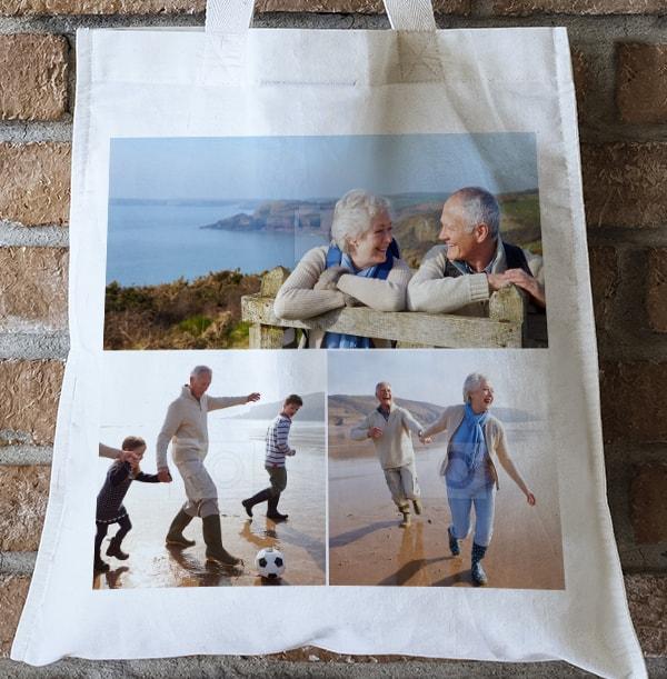 3 Photo Upload Tote Bag