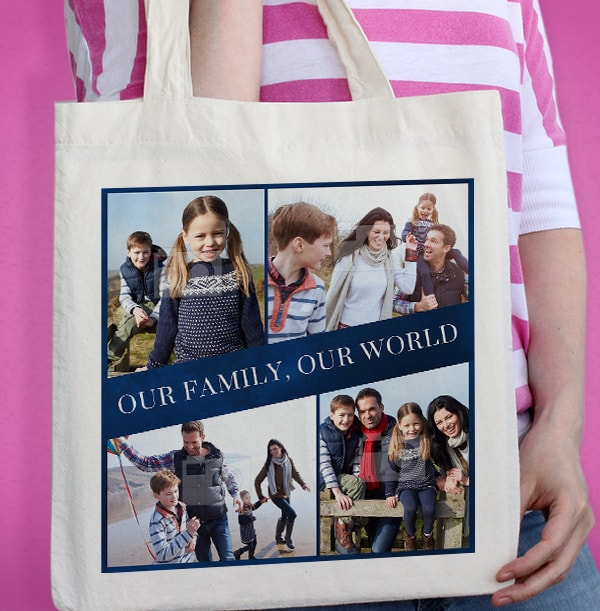 Our Family Multi Photo Tote Bag
