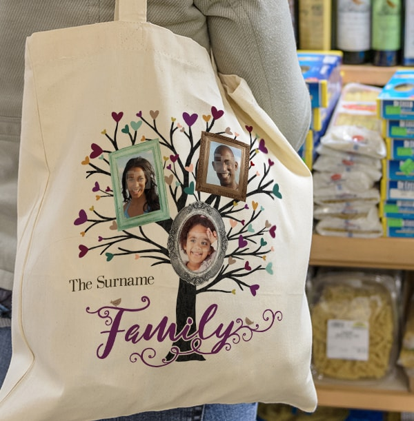 Family Tree 3 Photo Tote Bag