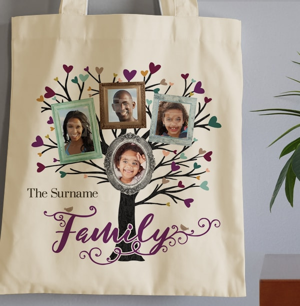 Family Tree 4 Photo Tote Bag