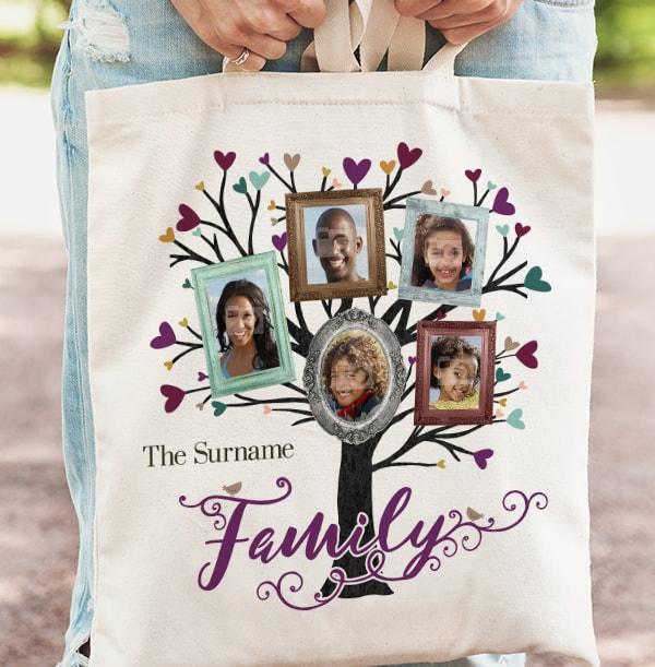 Family Tree 5 Photo Tote Bag