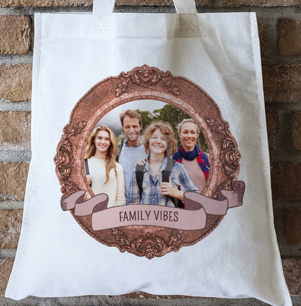 Family Vibes Photo Tote Bag