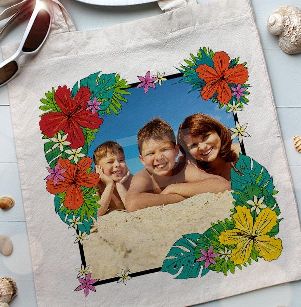 Tropical Flowers Photo Tote Bag