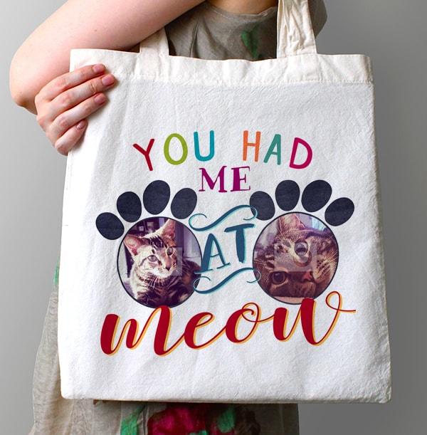 You Had Me At Meow Photo Tote Bag