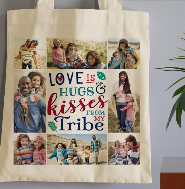 My Tribe Multi Photo Tote Bag