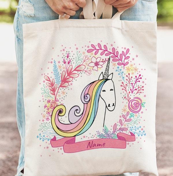 Unicorn Personalised Tote Bag
