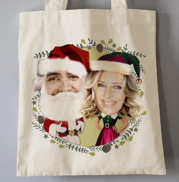 Mr & Mrs Claus Photo Tote Bag