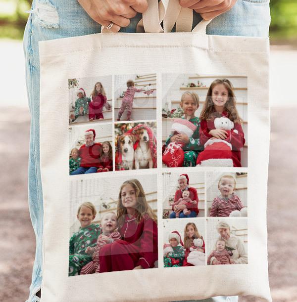Christmas 10 Photo Collage Tote Bag