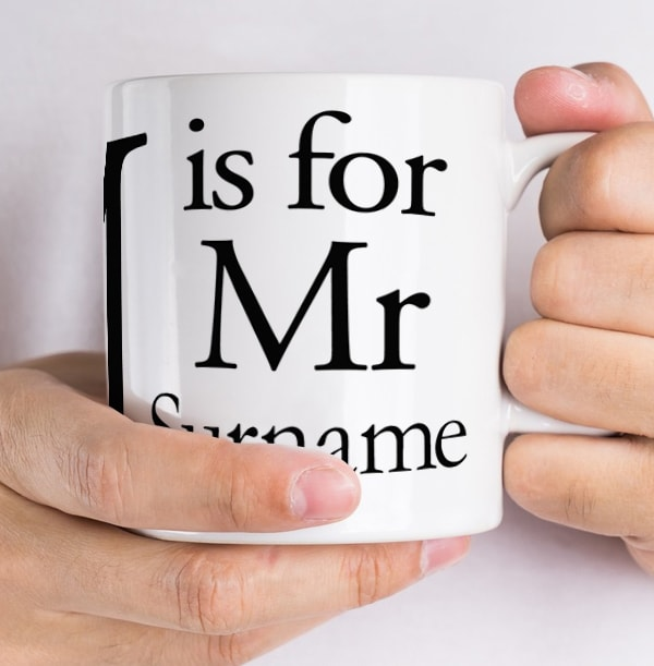 M is for Mr Personalised Mug