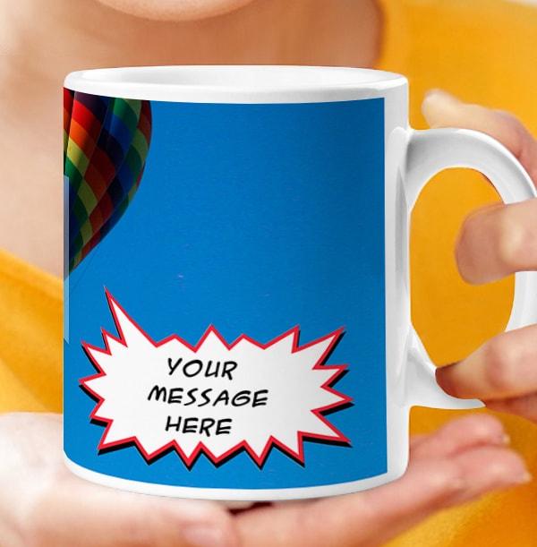 Speech Bubble Personalised Photo Mug