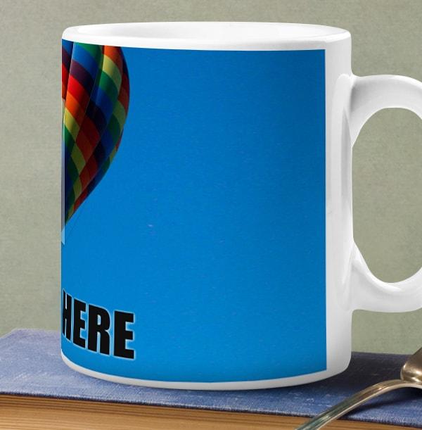 Personalised Mug - Full Photo Upload Bold Black Text
