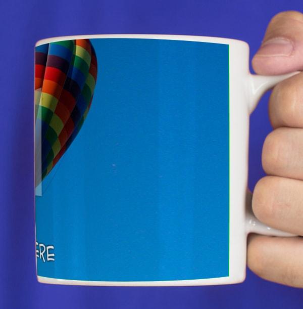 Personalised Mug - Full Photo Upload White Text