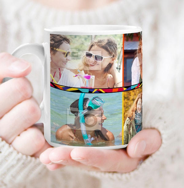 21st Birthday Multi Photo Mug