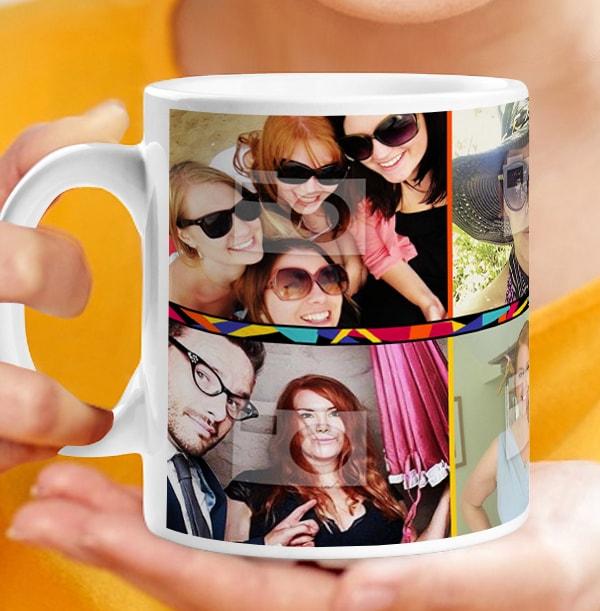 30th Birthday Multi Photo Mug
