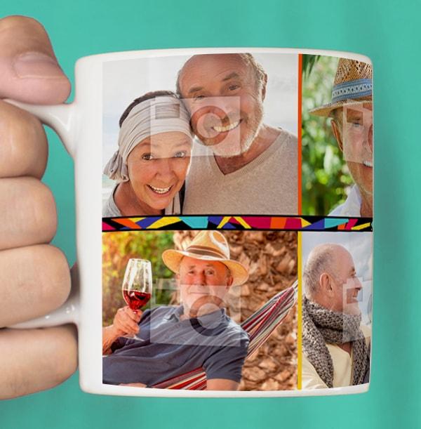 60th Birthday Multi Photo Mug