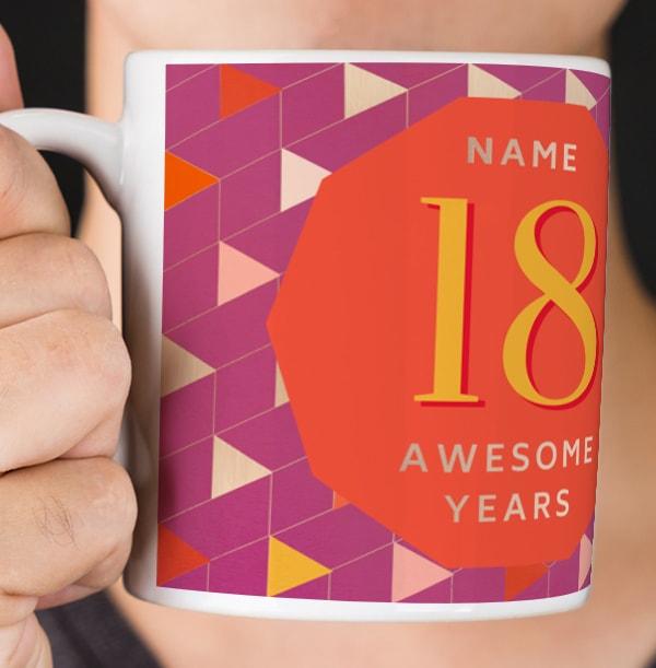 18 Awesome Years Female Photo Mug