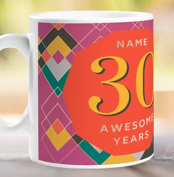30 Awesome Years Female Photo Mug