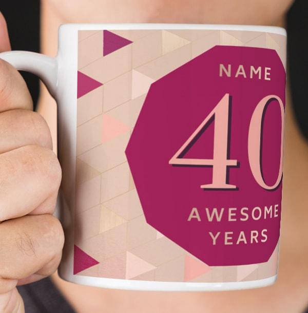 40 Awesome Years Female Photo Mug