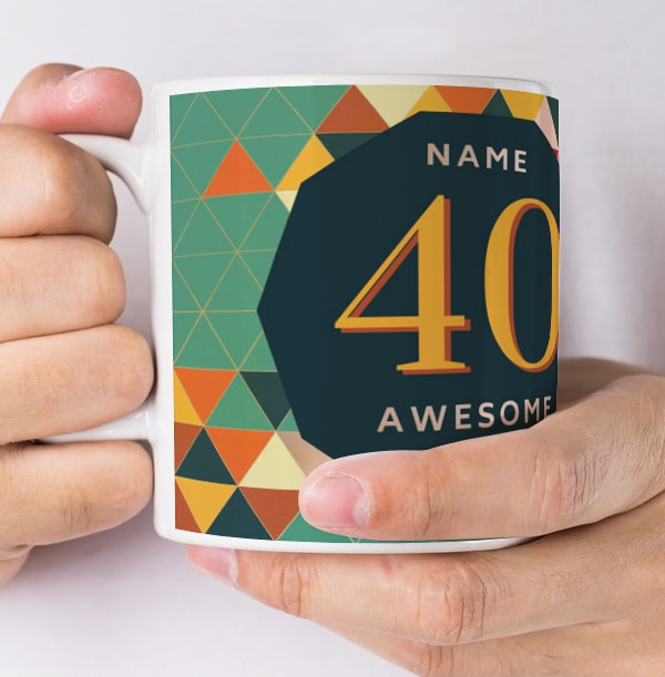 40 Awesome Years Male Photo Mug
