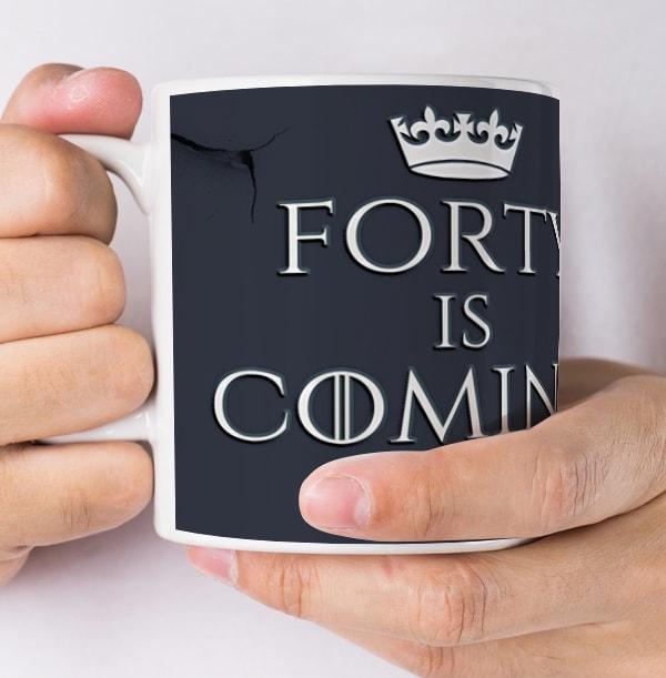 40 Is Coming Personalised Mug