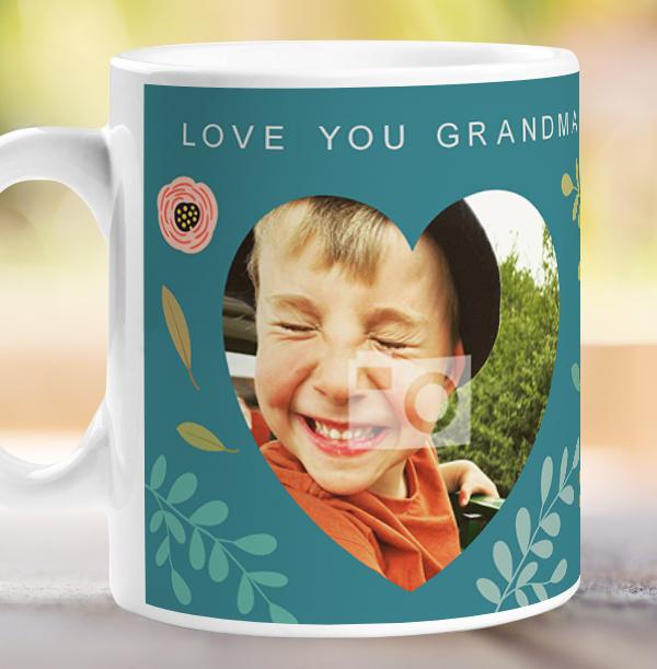 Love You Grandma Photo Birthday Mug