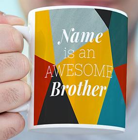 Awesome Brother Personalised Mug