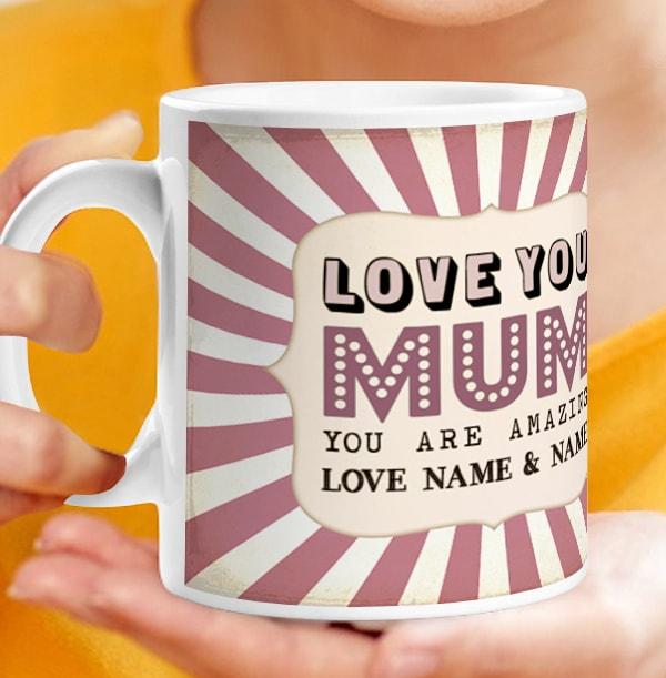 Love You Mum Personalised Photo Mug