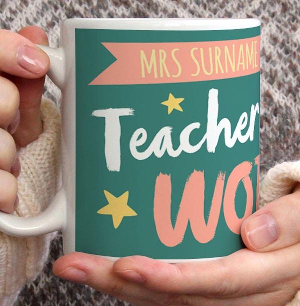 Best Teacher In The World Personalised Mug