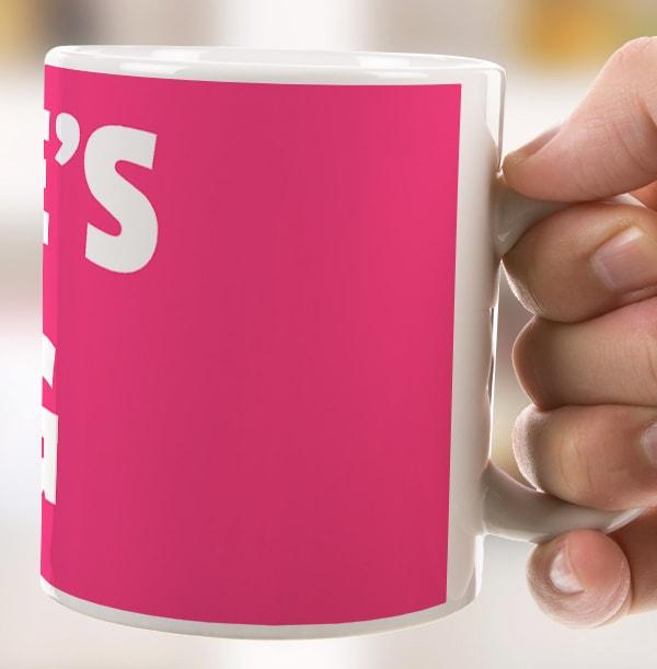 Personalised Name Mug - Pink