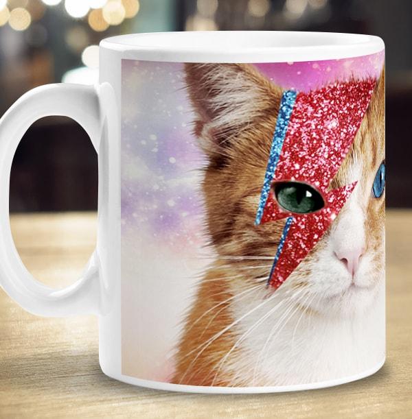 Meowie Bowie Personalised Mug
