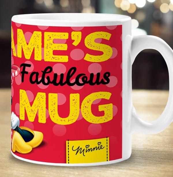 Personalised Minnie Mouse Photo Mug