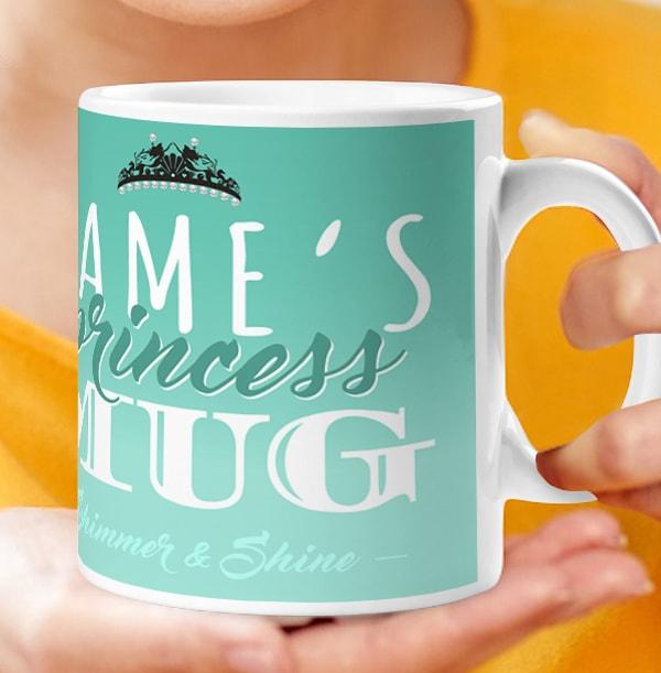 Disney Princess Mug - Personalised Princess Ariel
