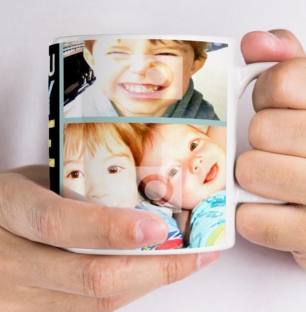 Personalised Mug - Photo Upload Hug Daddy