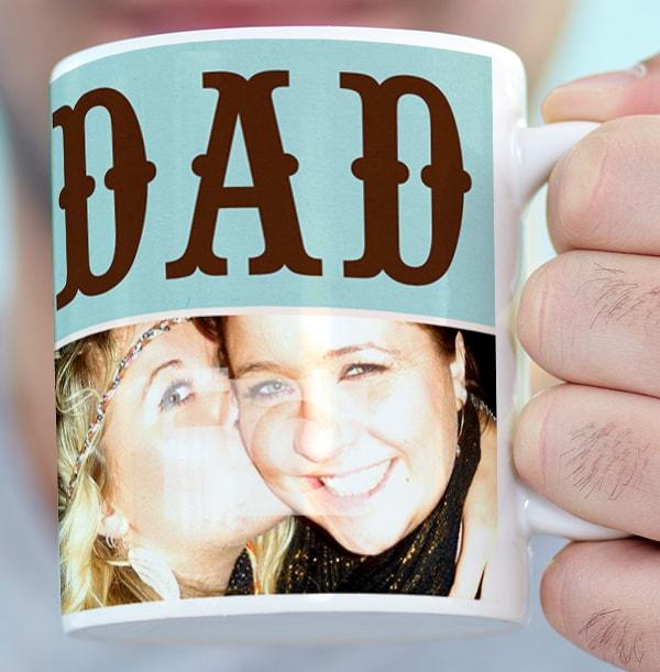 Personalised Mug - Photo Upload Word Play Dad