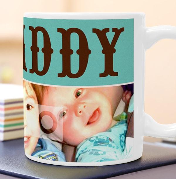 Personalised Mug - Photo Upload Word Play Daddy