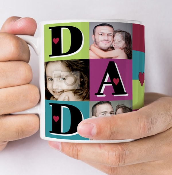 Love You Dad Personalised Photo Mug