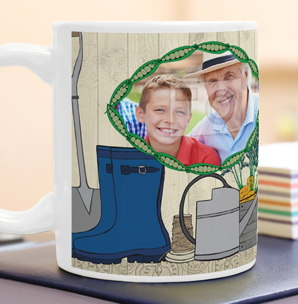 2 Photo Gardening Grandad Mug