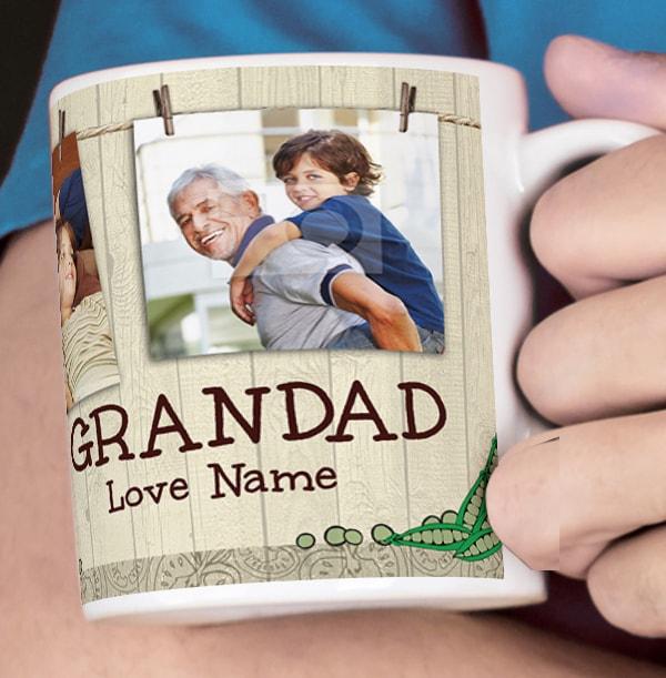 4 Photo Gardening Grandad Mug