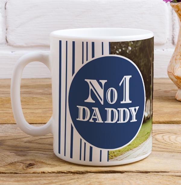 No.1 Daddy Photo Upload Mug