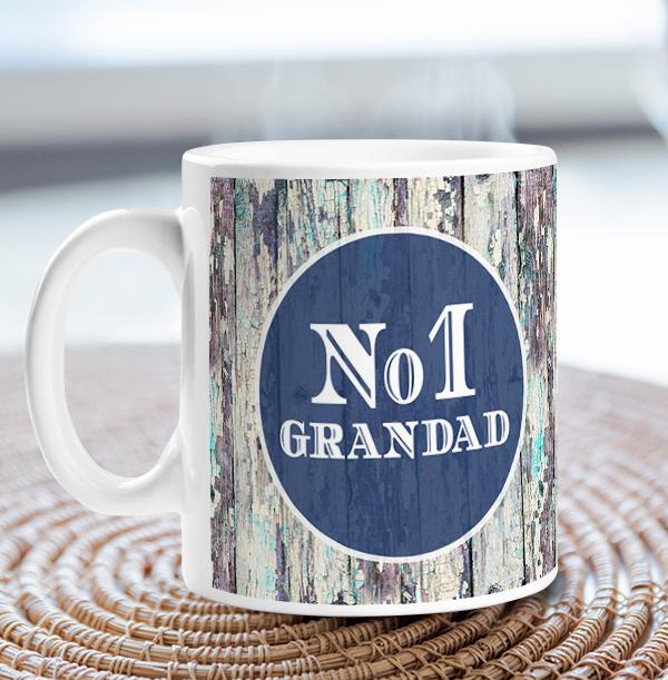 No. 1 Grandad Personalised Mug