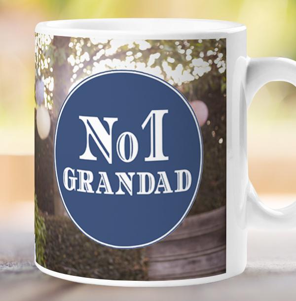 No.1 Grandad Photo Upload Mug