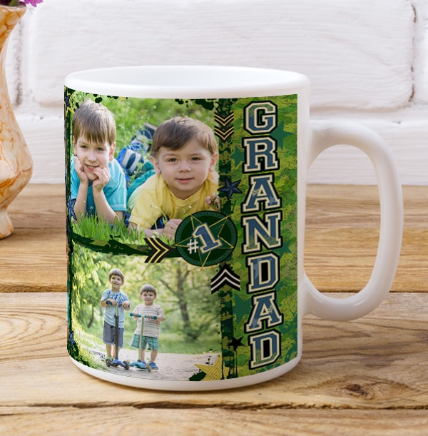 No.1 Grandad Personalised Photo Mug