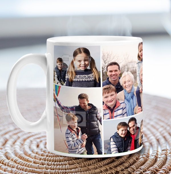 Multi Photo Personalised Mug