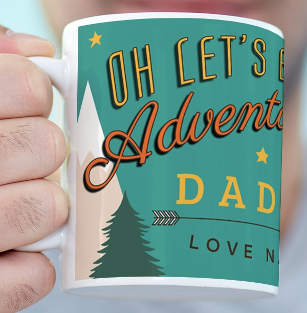 Let's Be Adventurers Daddy Photo Mug