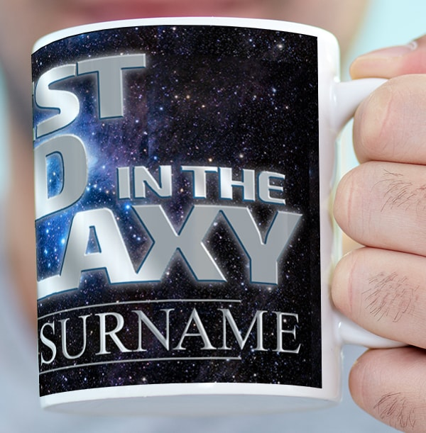 Best Dad In The Galaxy Personalised Photo Mug