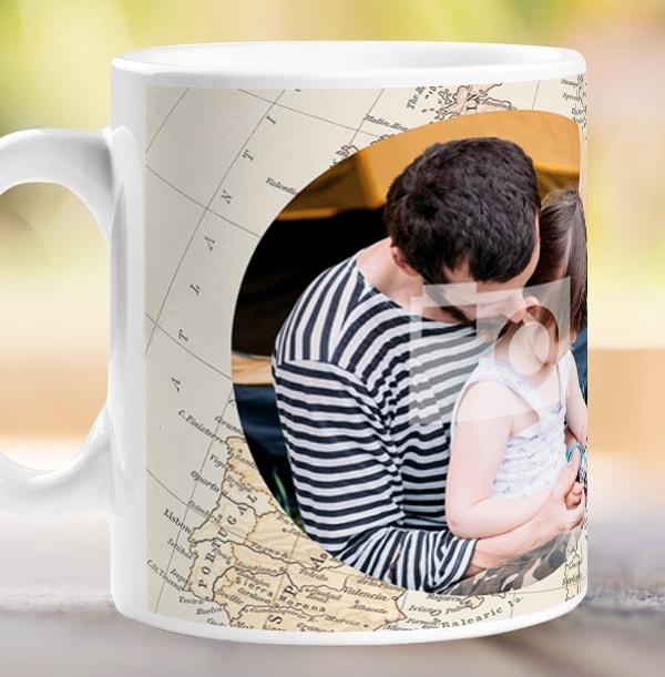 Personalised Adventures Daddy Photo Mug