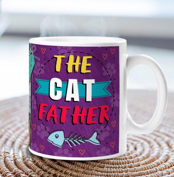 The Cat Father Photo Mug